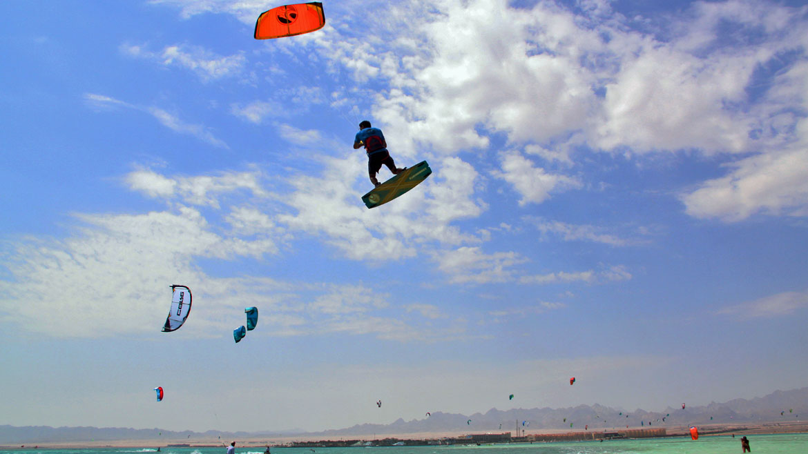 Surfbude Kite Camp in Soma Bay, Ägypten
